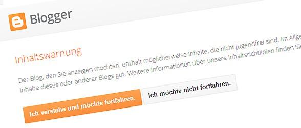 blogger adult content - Porno darf auf Blogger.com bleiben !