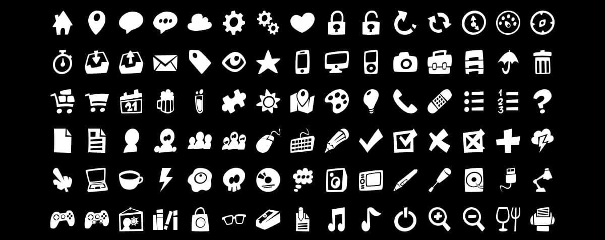 350+ Fun Vector Icons Set