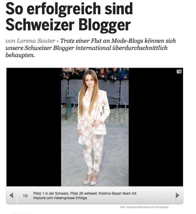 schweizer blogger 1 - Blogger bei 20min heute grosses Thema