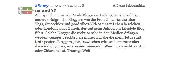 schweizer blogger 2 - Blogger bei 20min heute grosses Thema