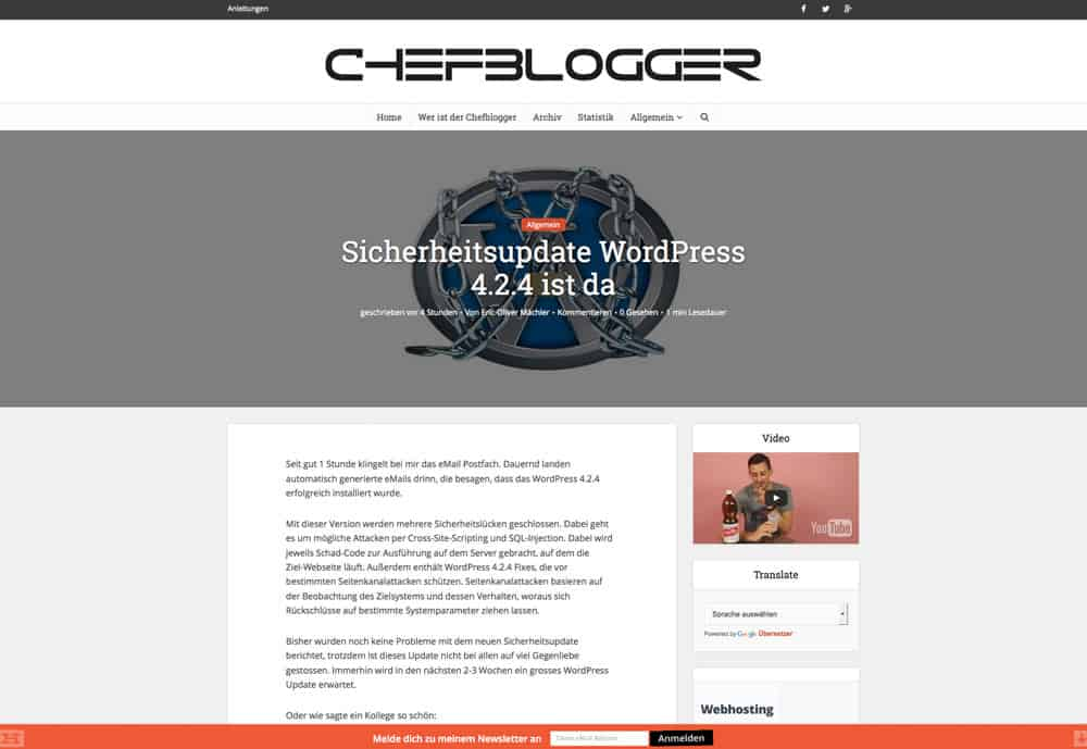 chefblogger design neu artikel - Redesign 2015
