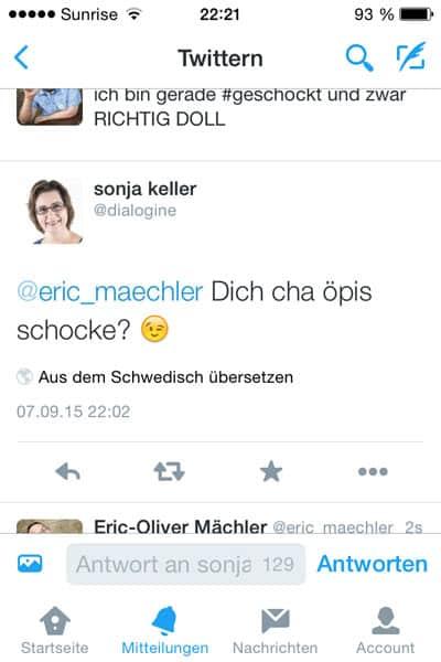 dialogine twitter schweizerdeutsch schwedisch - Liebes Twitter-Team - hier eine kleine Nachhilfestunde extra für euch