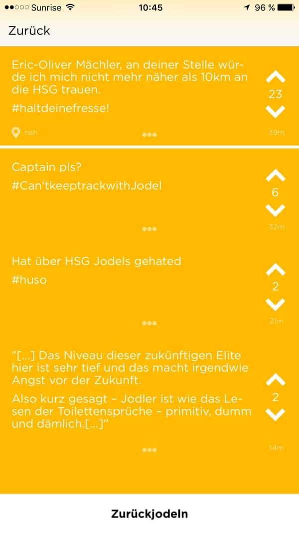 jode eric bashing - Die App - Twitter für Studenten