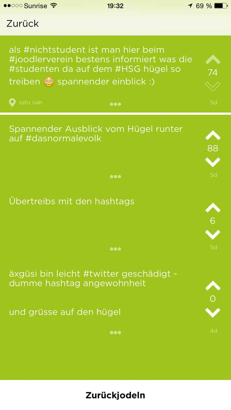 jodel app 4 - Die App - Twitter für Studenten