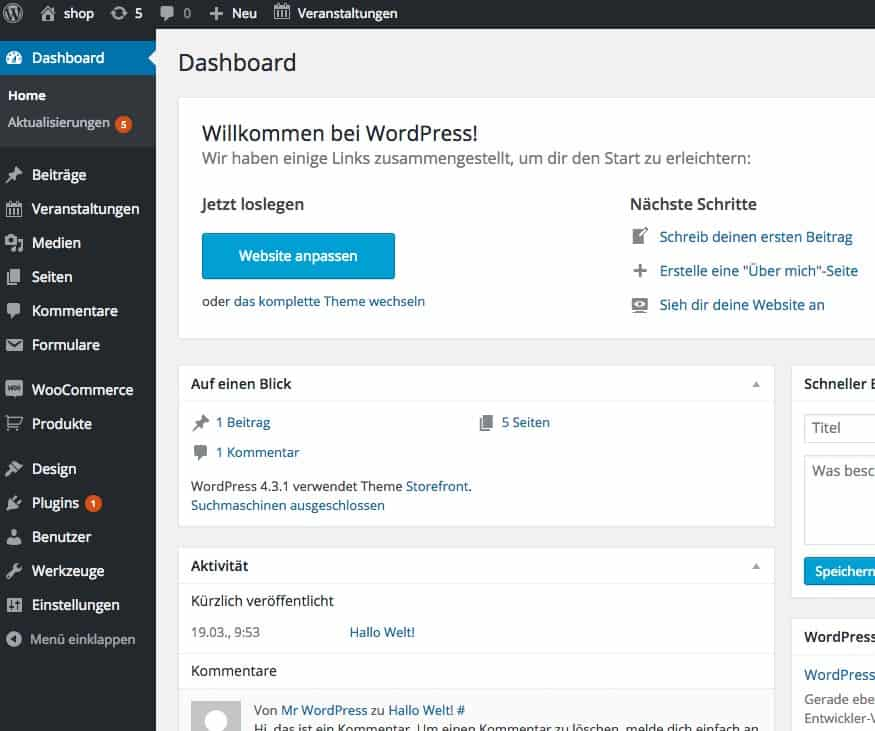 wordpress-woocommerce-anleitung-backend