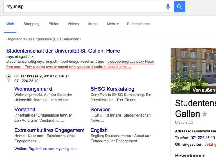 myunisg hack google - myunisg.ch wurde gehackt #HSG