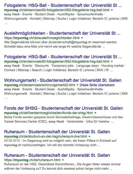 myunisg hack sexy - myunisg.ch wurde gehackt #HSG