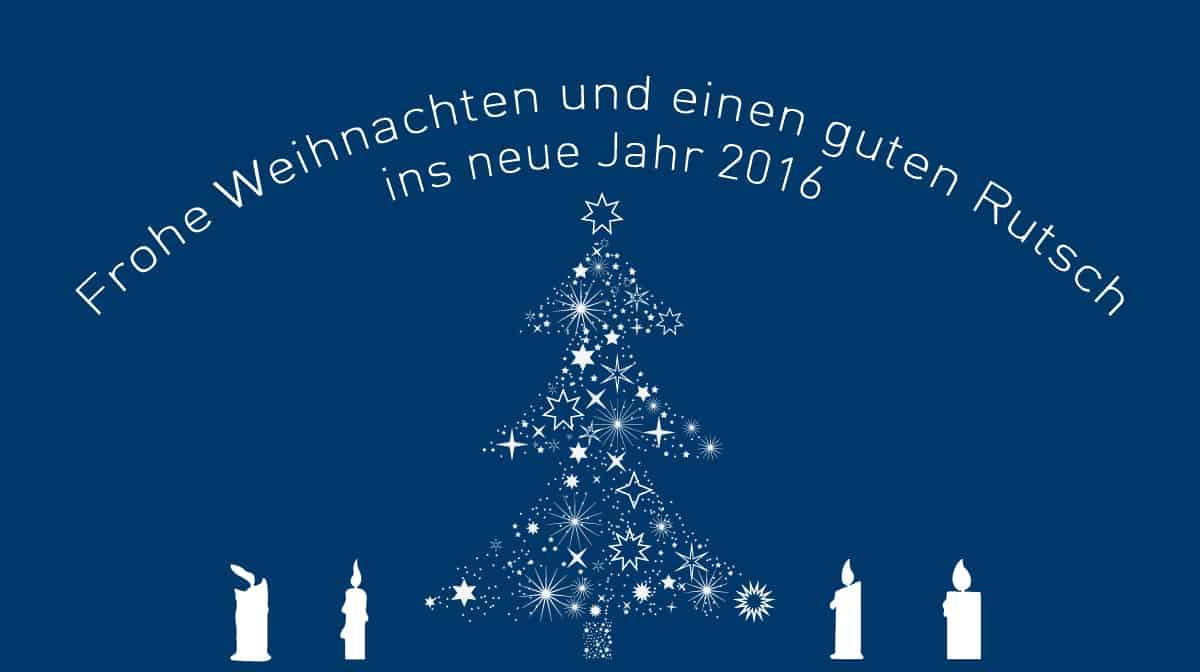 Frohe Weihnachten und schöne Festtage
