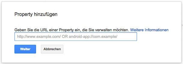 google webmastertool property anmelden - Wie trage ich meine Webseite bei Google ein