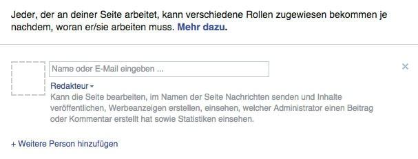 facebook fanpage rollen zuweisen - Facebook: Fanpage Rechte und Rollen wie funktioniert das genau?