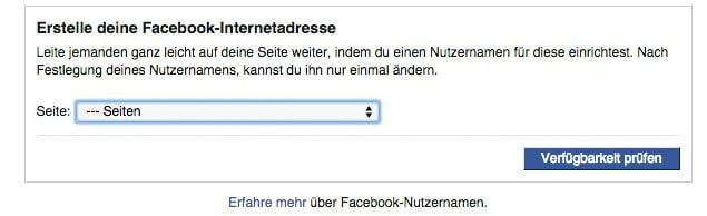 facebook fanpage url - Facebook: Wie gebe ich meiner Fanpage eine Kurz-URL / Vanity URL?