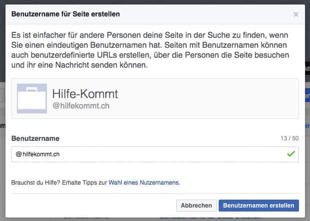 facebook url vanity url anpassen 2 - Facebook: Wie gebe ich meiner Fanpage eine Kurz-URL / Vanity URL?