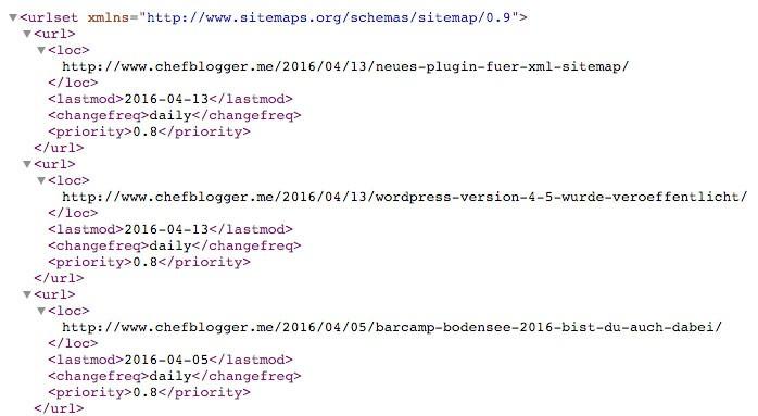 auszug xml sitemap file - Wofür braucht man eine Sitemap