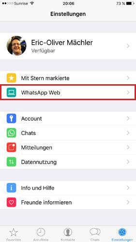 whatsapp-app-einstellung