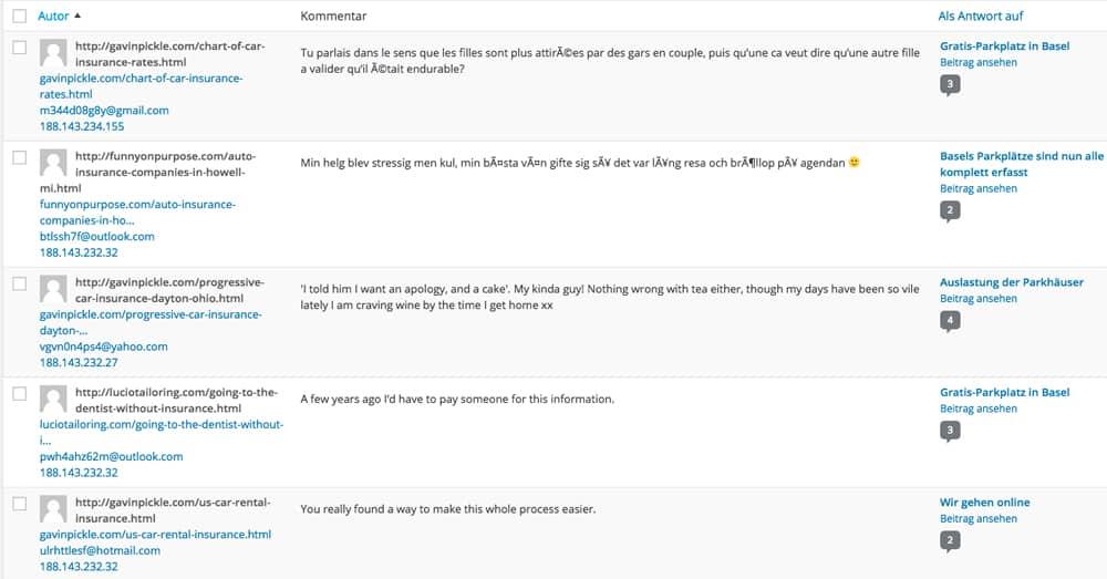 wordpress spam kommentare interne funktion - Wie schütz ich mich vor SPAM Kommentare / E-Mails #KFKA