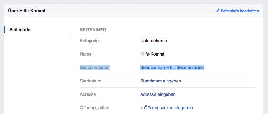 facebook url vanity url anpassen 1 - Facebook: Wie gebe ich meiner Fanpage eine Kurz-URL / Vanity URL?