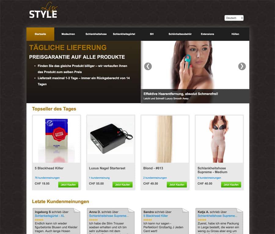 seco stylelux 2 - Schweizerisches Staatssekretariat für Wirtschaft warnt vor Online Shop