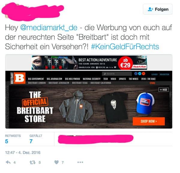 shitstorm breitbart mediamarkt - #KeinGeldfürRechts - Der Shitstorm frisst seine eigenen Kinder