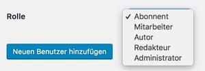 wordpress benutzerrollen - WordPress Benutzerrollen / Benutzerrechte