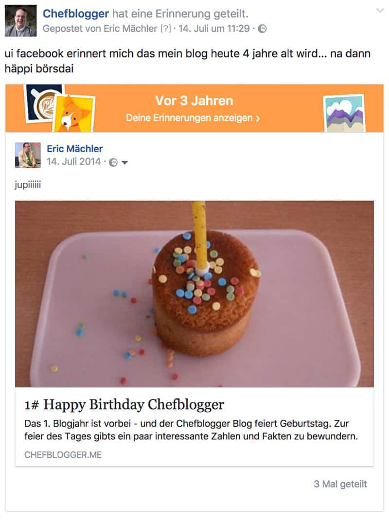 facebook geburtstag chefblogger blog - 4 Jahre Chefblogger - Happy Birthday !!