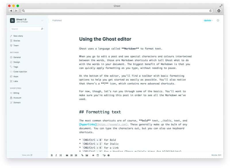 ghost 1 cms update - Ghost 1.0 wurde veröffentlicht