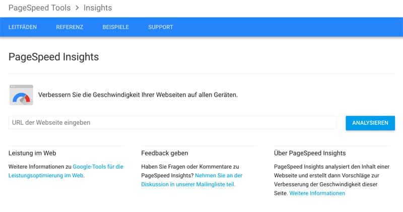 webseiten geschwindigkeitstest google insights - Wie misst man die Ladezeit einer Webseite?
