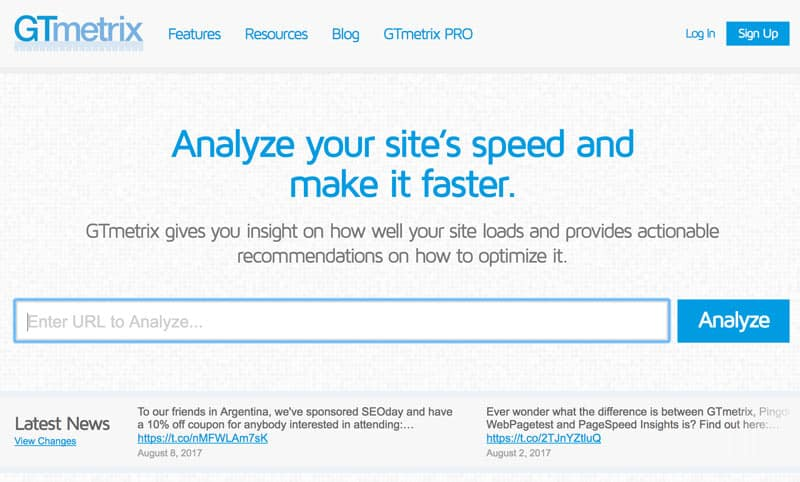 webseiten geschwindigkeitstest gtmetrix - Wie misst man die Ladezeit einer Webseite?