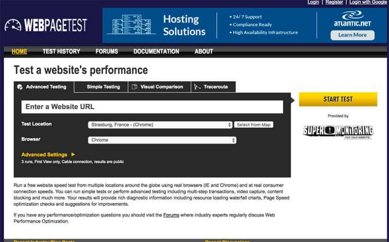 webseiten geschwindigkeitstest webpagetest - Wie misst man die Ladezeit einer Webseite?