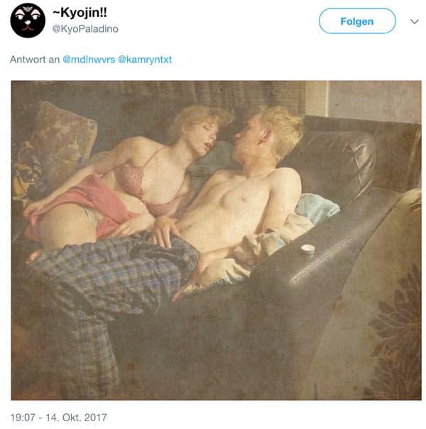 twitter bild spaghetiddy 3 - Viraler Twitter-Hit - Zwei schlafende und besoffene auf dem Sofa