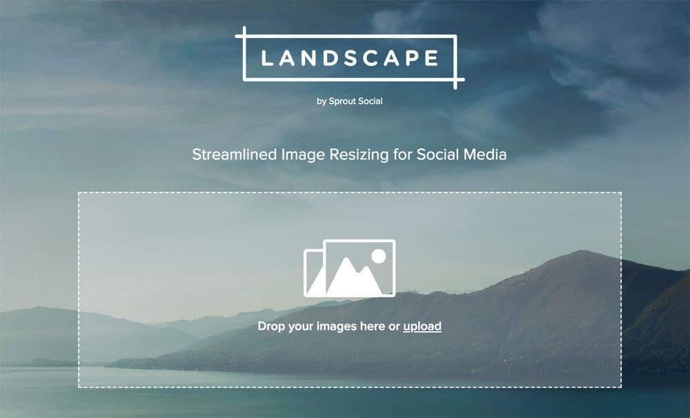 Landscape – Wie man Bilder schnell für Social Media aufbereitet