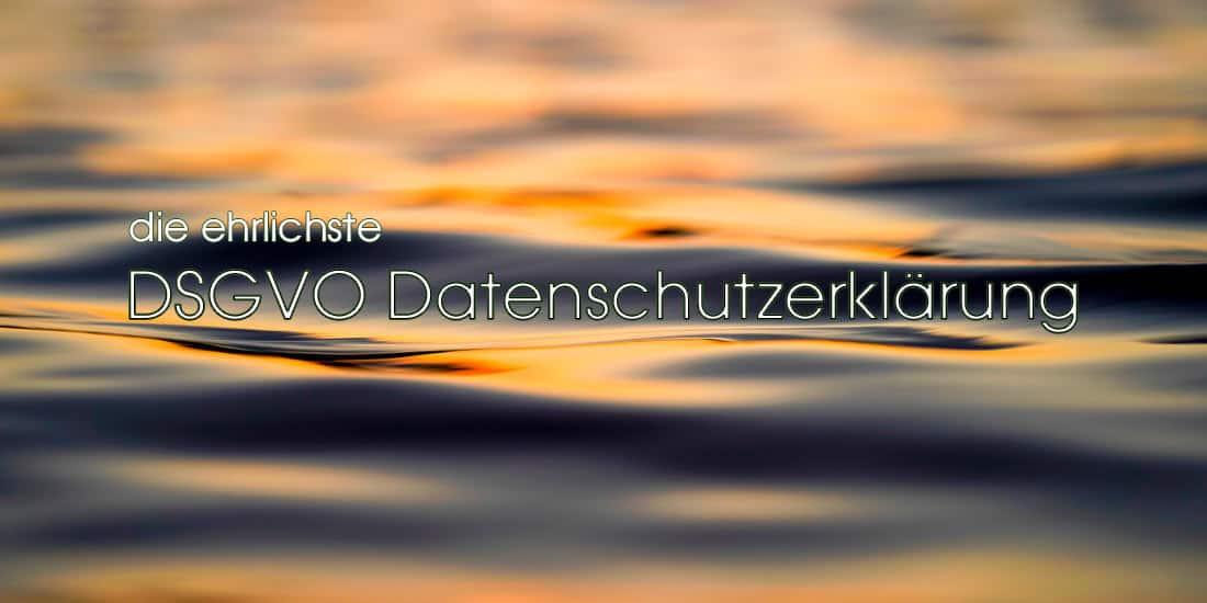 Die ehrlichste DSGVO Datenschutzerklärung der Welt