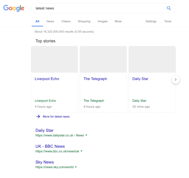 google eu 2019 - So sieht also Google aus sobald das neue EU Copyright Urheberrecht Gesetz aktiv ist