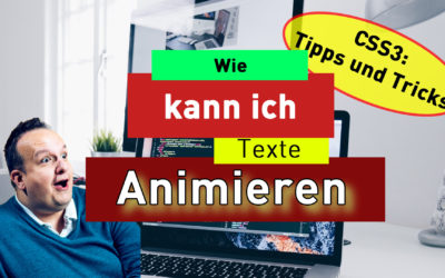 Text animation mit HTML & CSS
