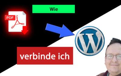 3 Wege um PDF in WordPress einzubinden
