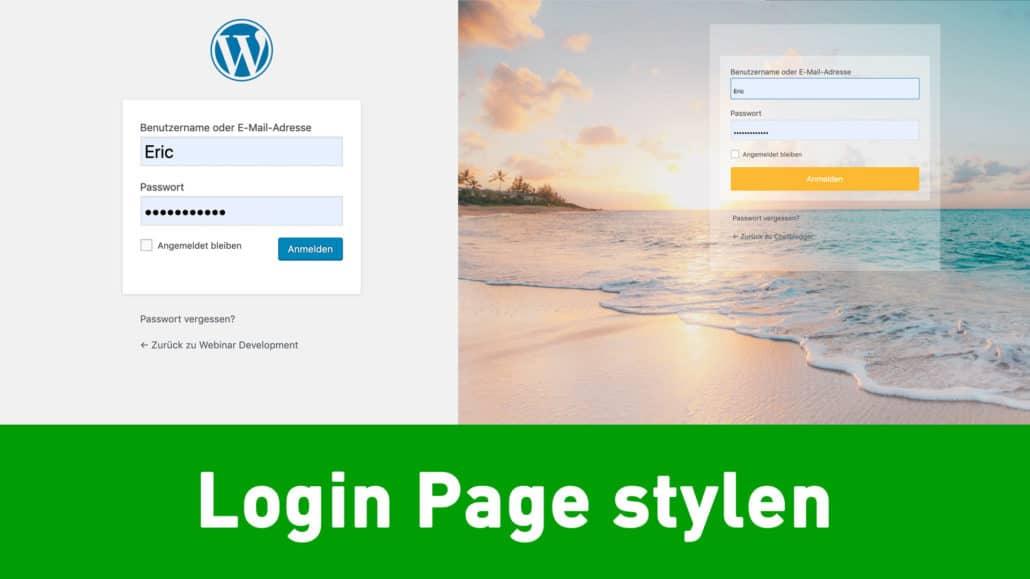 wordpress login pages stylen 1030x579 - Wie designe ich die Wordpress Login Seite