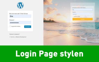 Wie designe ich die WordPress Login Seite