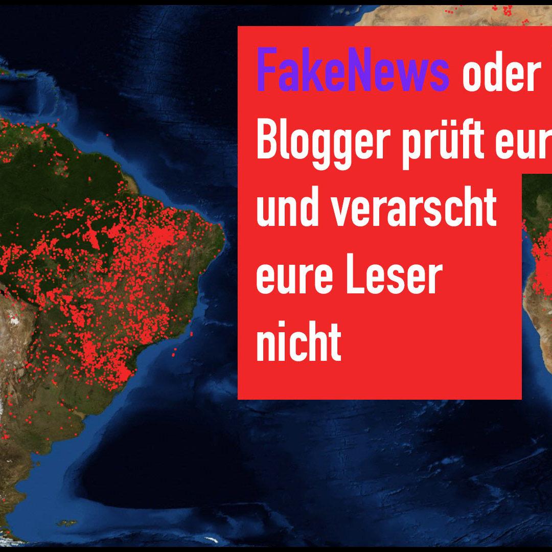 Der Amazonas brennt !! Fakenews oder Wahrheit? Blogger prüft eure Quellen