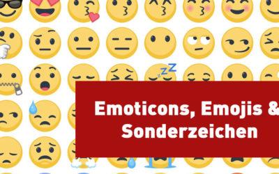 Emoticons, Emojis & Sonderzeichen