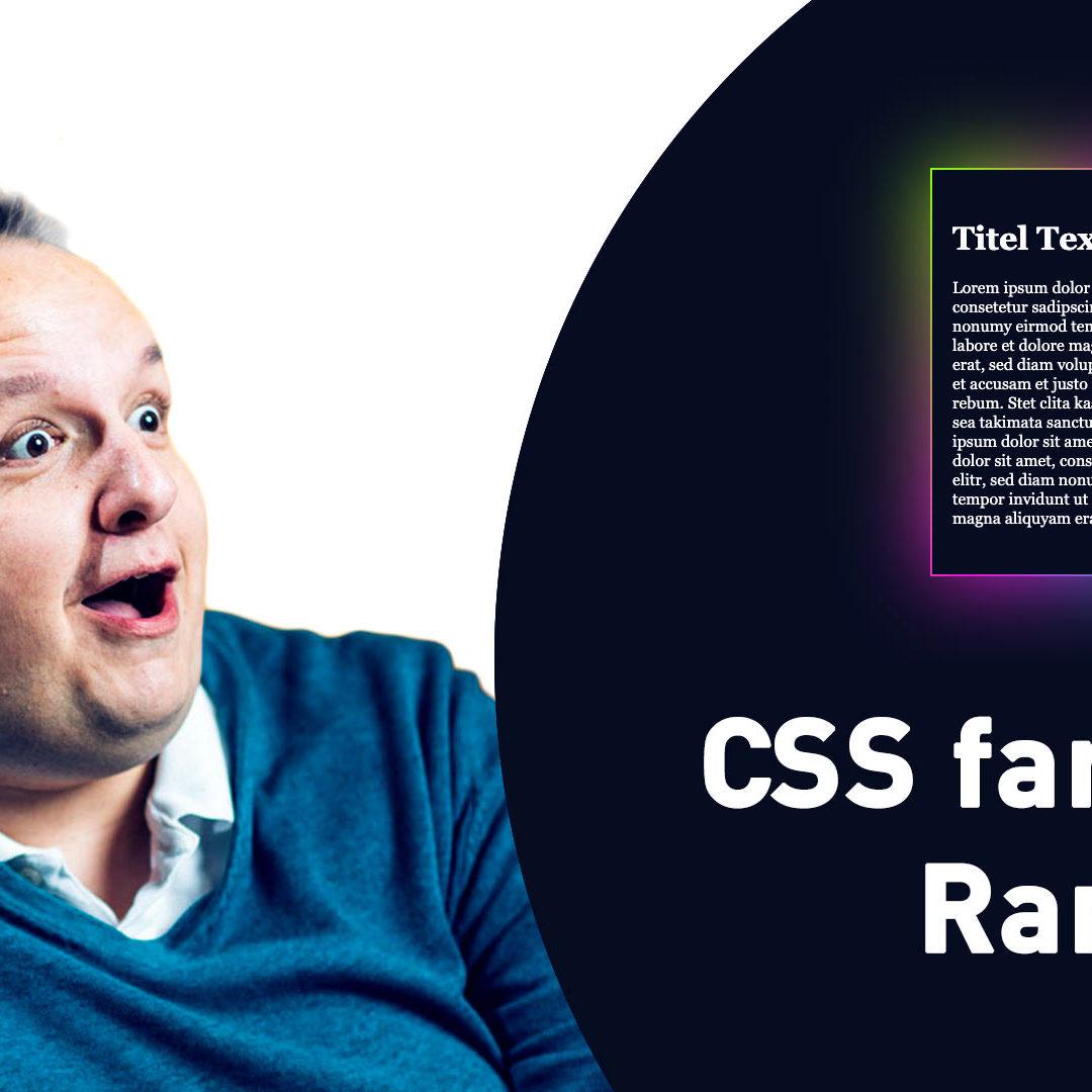 Cooler CSS Rand mit einem Farbverlauf