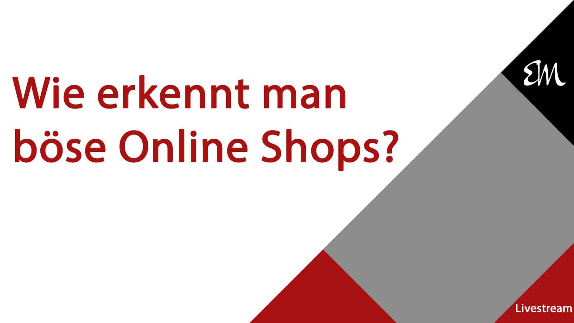 Betrügerische Online Shops – wie erkennt man diese?