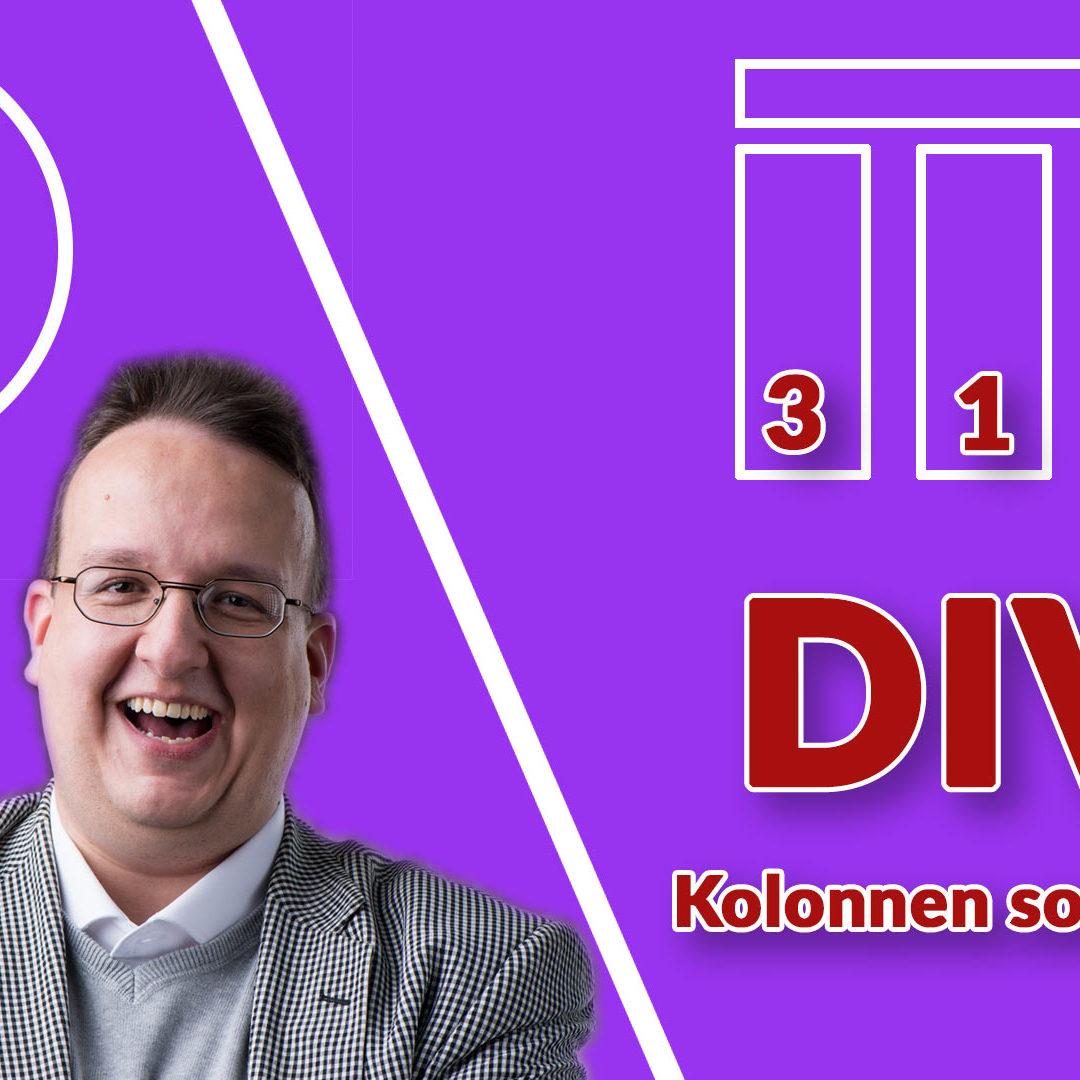 Wie sortiert man Kolonnen in DIVI?