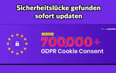 Sicherheitslücke bei GDPR Cookie Consent gefunden – sofort updaten