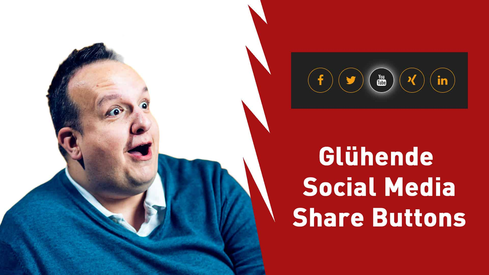 Glühende runde Social Media Share Buttons mit reinem CSS