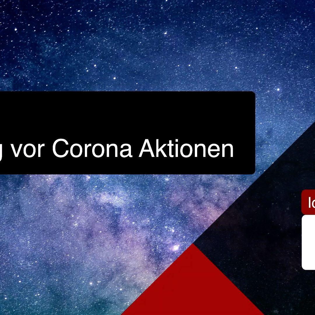 Achtung vor Corona Aktionen – Seriös oder Unseriös – das ist die Frage!