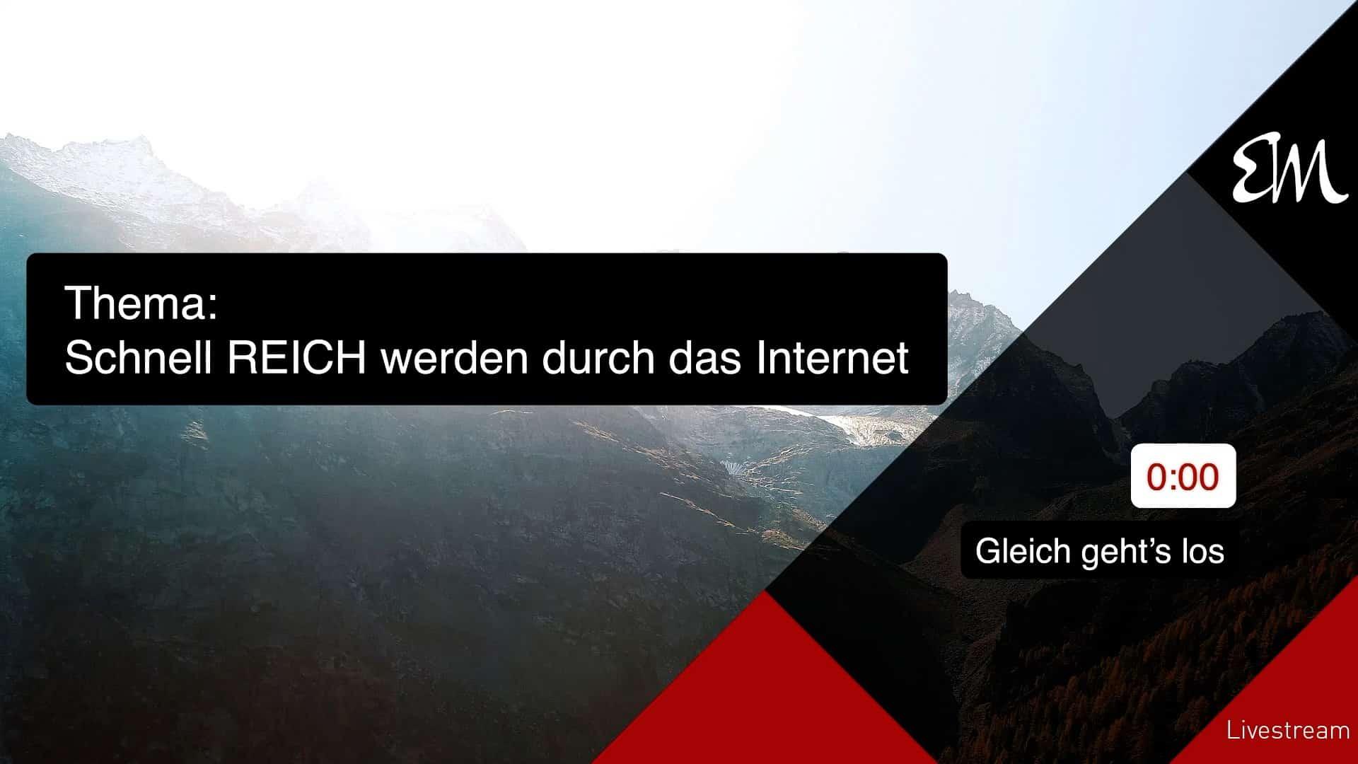 Schnell reich werden durch das internet?