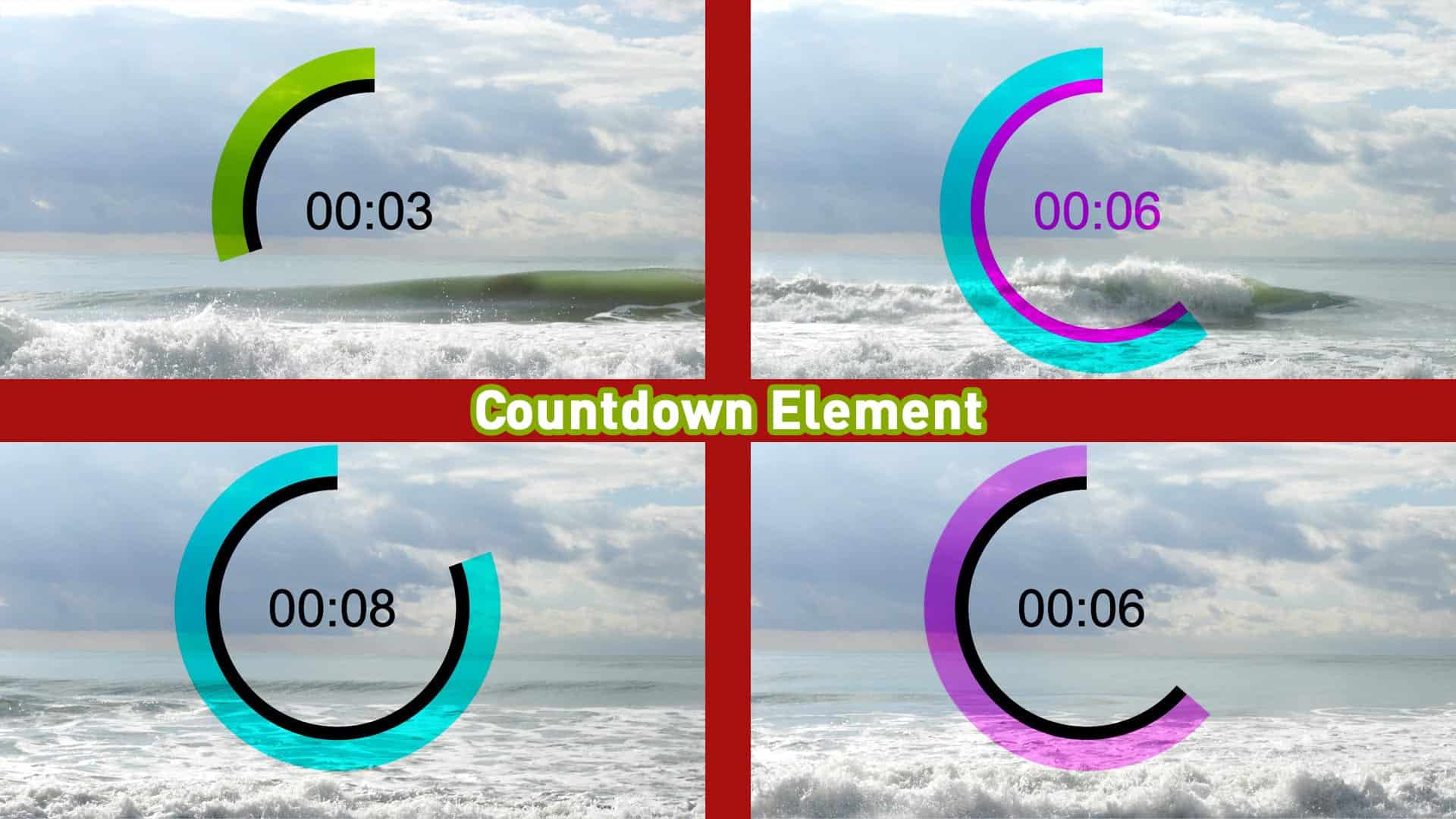 Countdown Element für Videos oder Livestreams