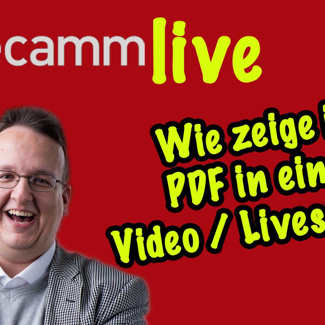 Ecamm Live: Wie zeige ich PDF in einem Video oder Livestream?