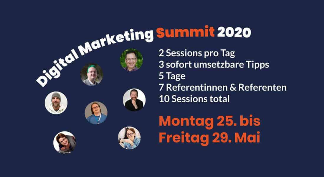Digital Marketing Summit für Selbständige, Einzelunternehmer Dienstleister & Serviceanbieter