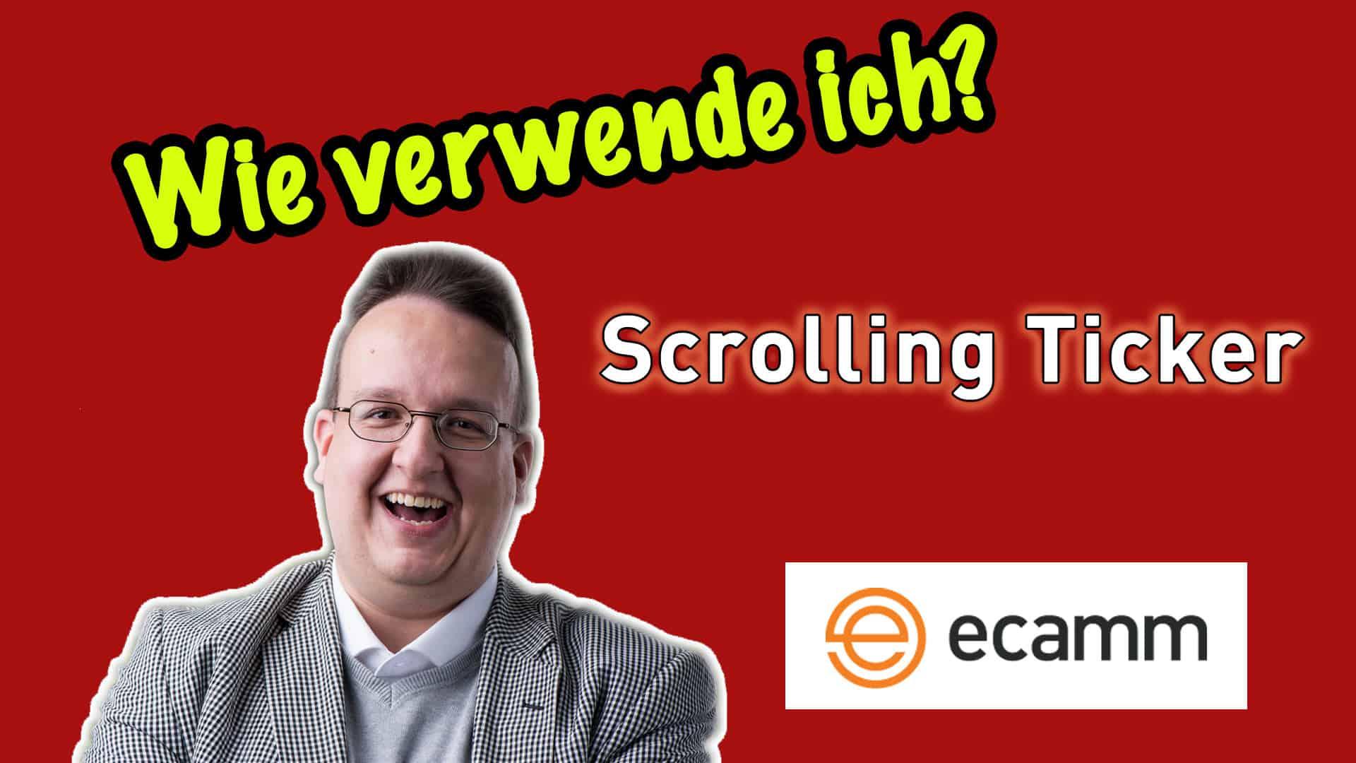 Ecamm Live: Wie verwende ich den Scrolling Ticker / Laufticker