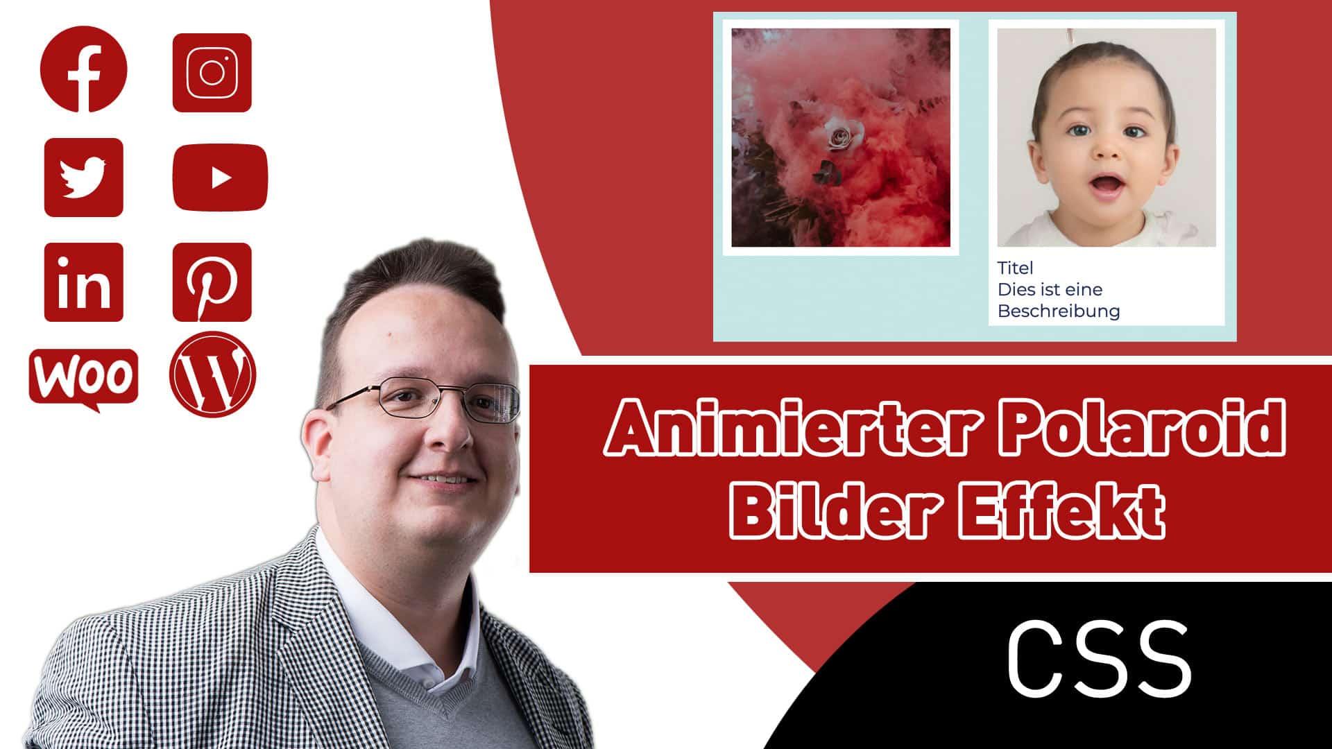 CSS animierter Polaroid Bilder Hover Effekt
